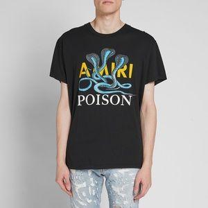 Mike Amiri poison snake black t shirt